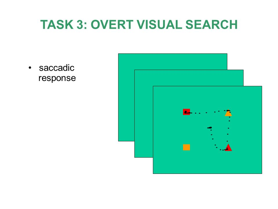 TASK 3: OVERT VISUAL SEARCH