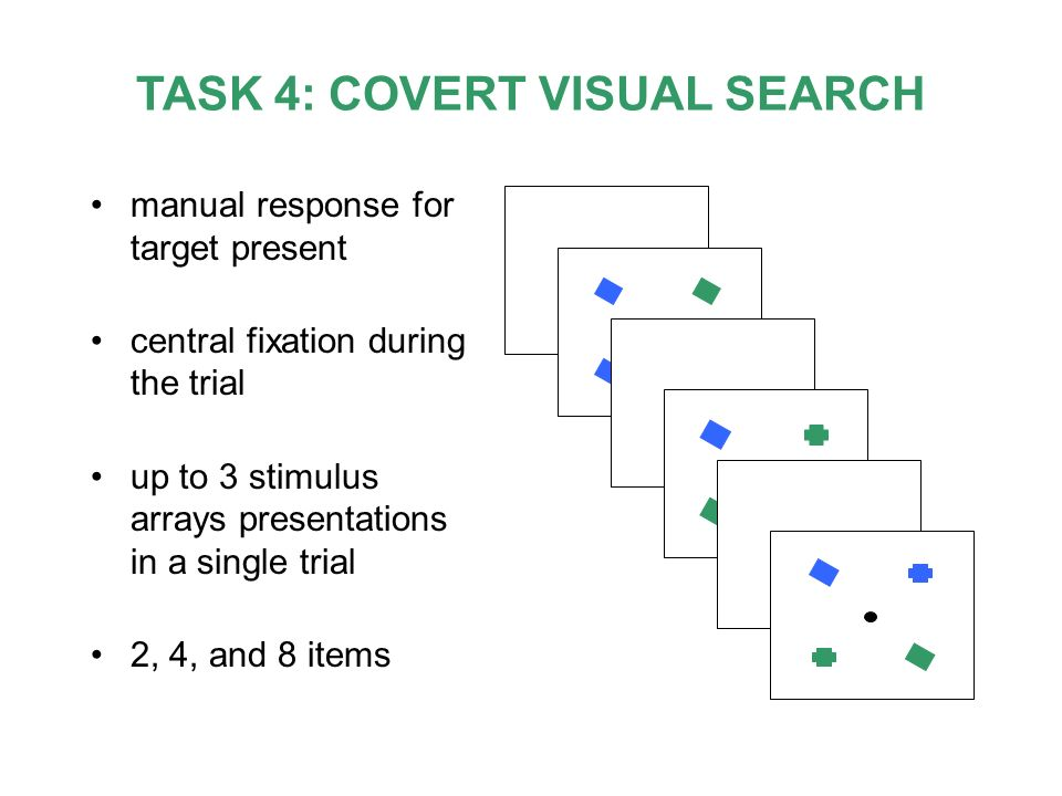 TASK 4: COVERT VISUAL SEARCH
