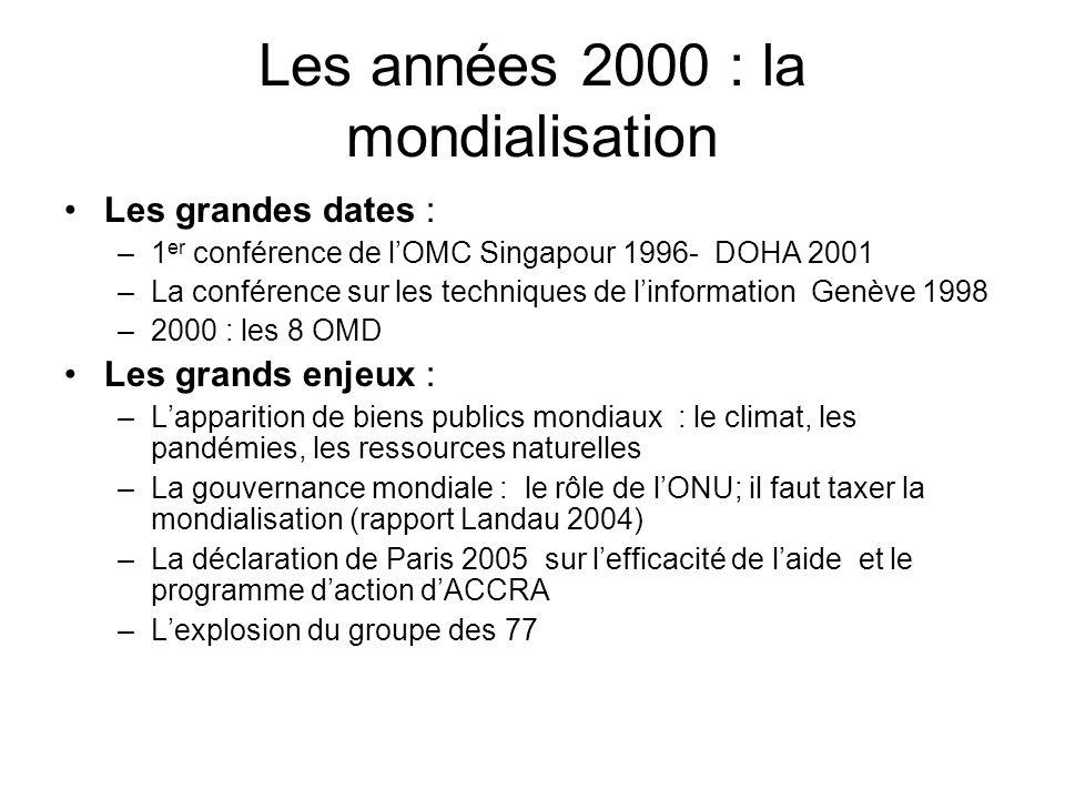 Les années 2000 : la mondialisation