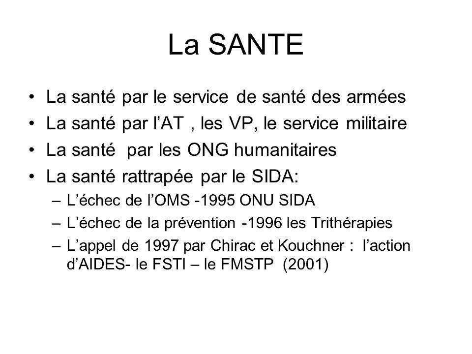 La SANTE La santé par le service de santé des armées