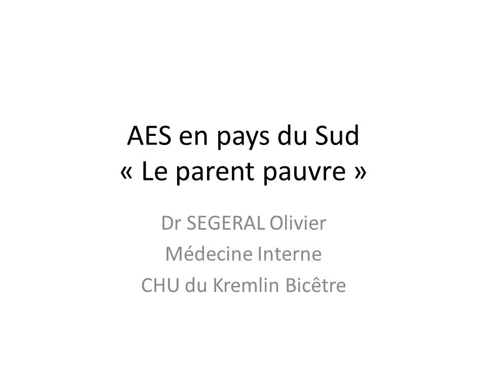 AES en pays du Sud « Le parent pauvre »