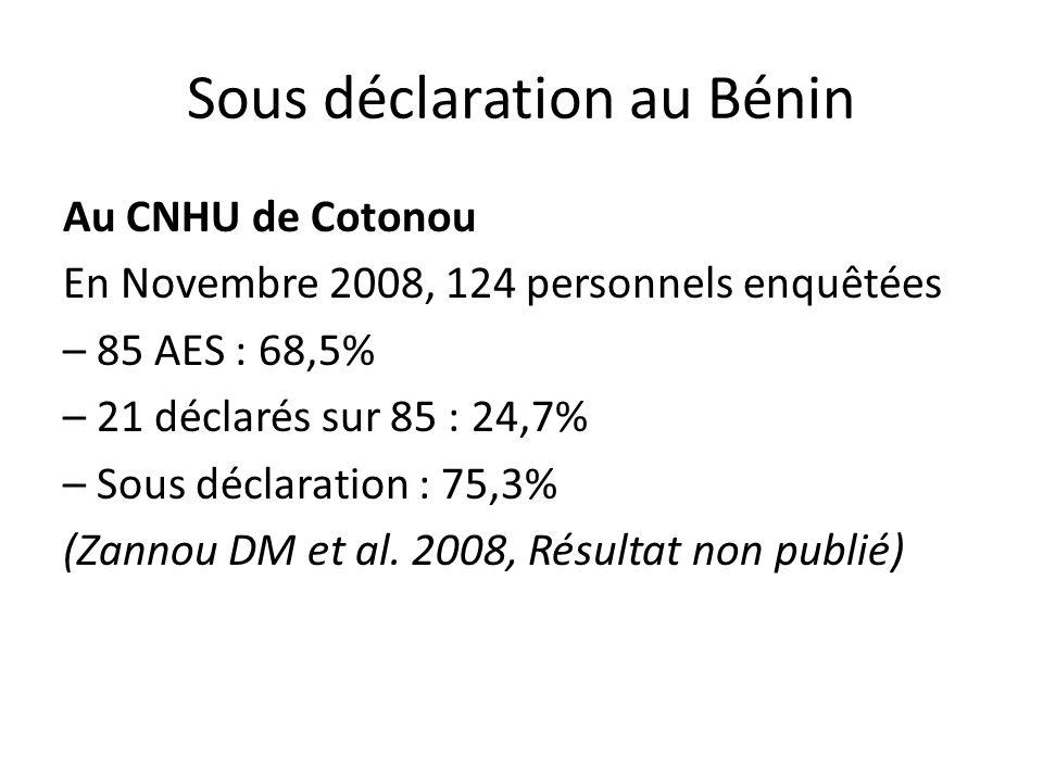 Sous déclaration au Bénin