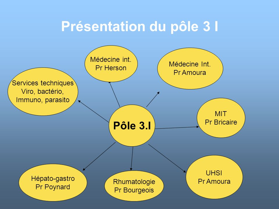 Présentation du pôle 3 I Pôle 3.I Médecine int. Pr Herson