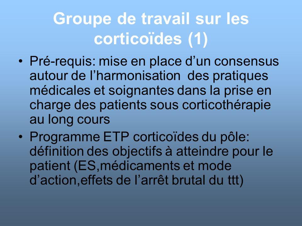 Groupe de travail sur les corticoïdes (1)
