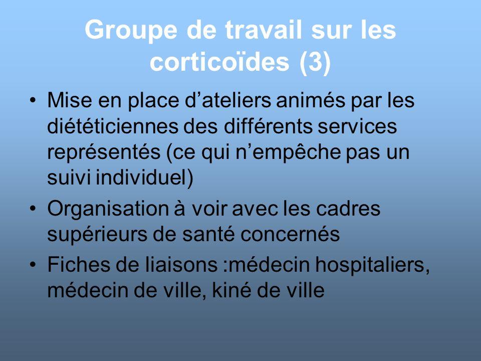 Groupe de travail sur les corticoïdes (3)