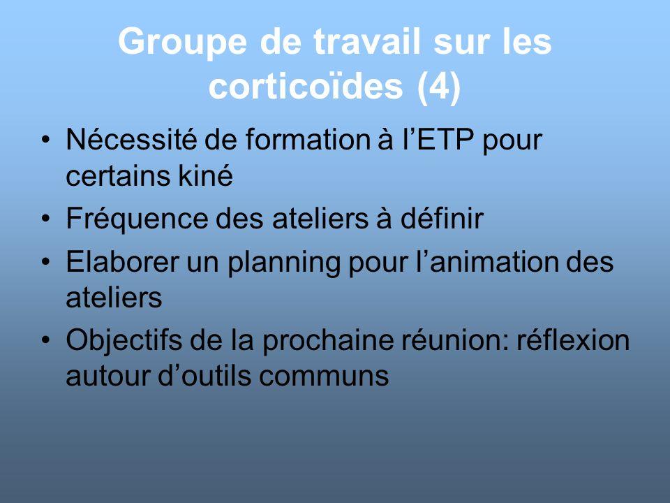 Groupe de travail sur les corticoïdes (4)