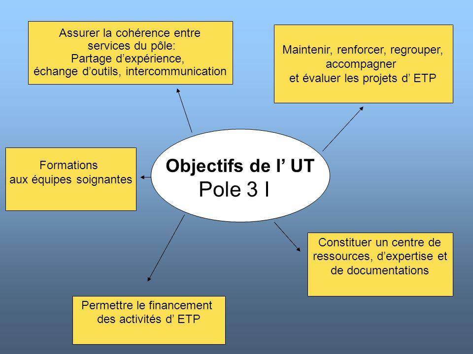 Pole 3 I Objectifs de l' UT Assurer la cohérence entre