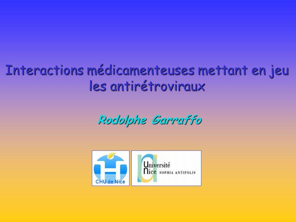 Interactions médicamenteuses mettant en jeu