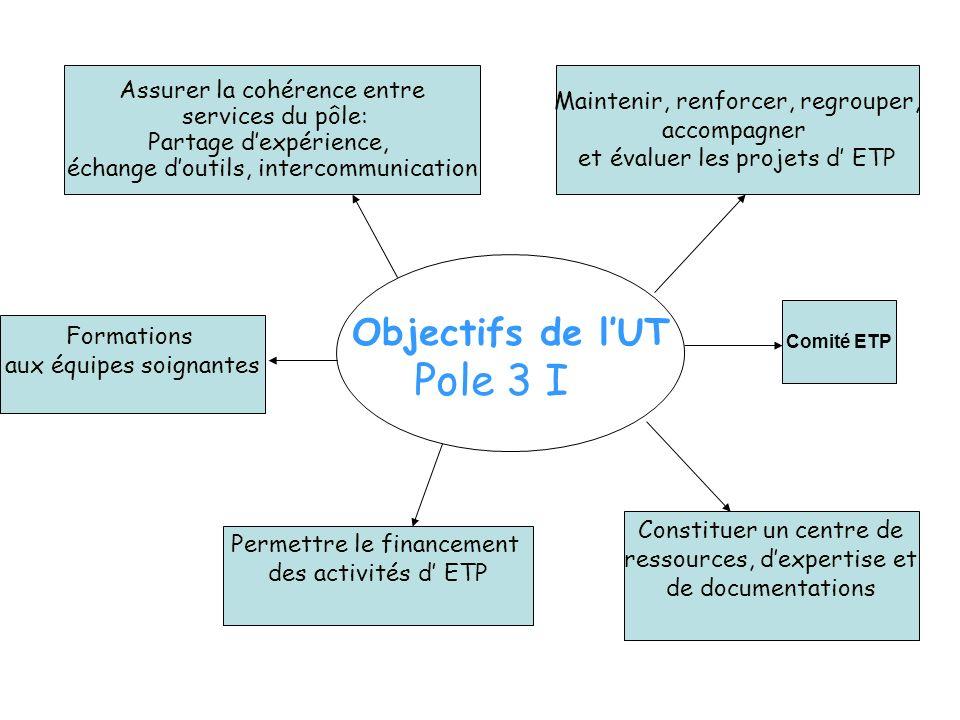 Pole 3 I Objectifs de l'UT Assurer la cohérence entre