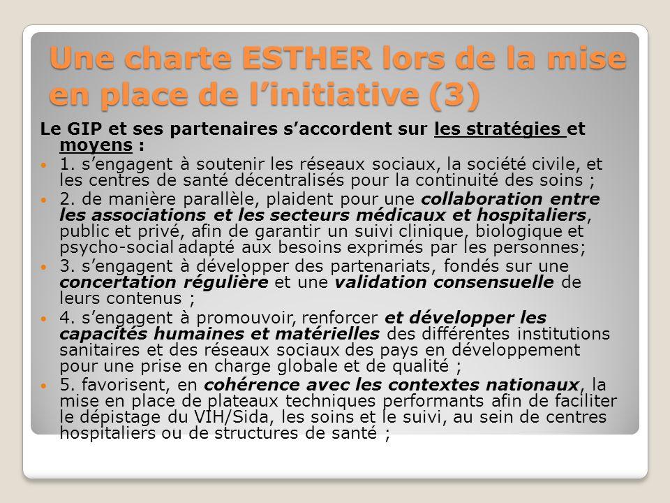 Une charte ESTHER lors de la mise en place de l'initiative (3)