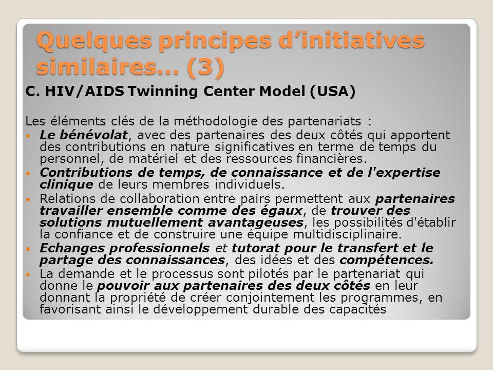 Quelques principes d'initiatives similaires… (3)