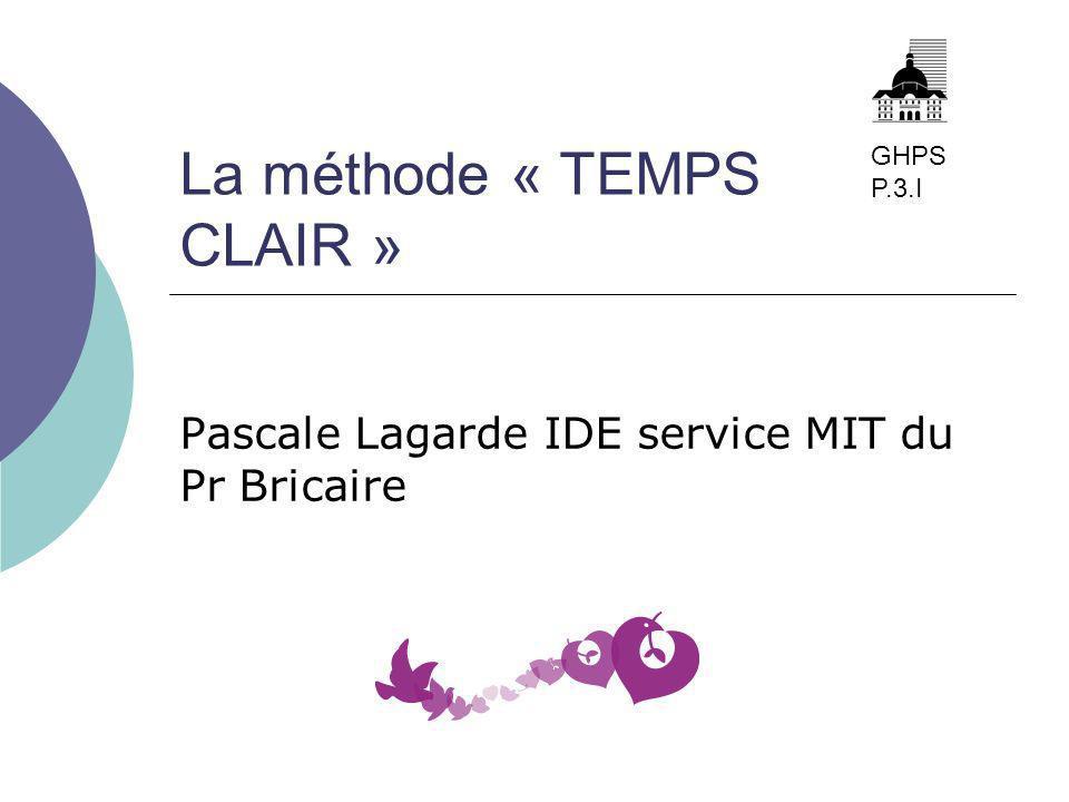 La méthode « TEMPS CLAIR »