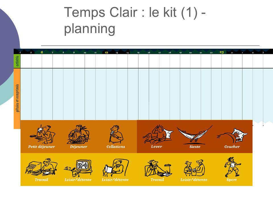Temps Clair : le kit (1) - planning