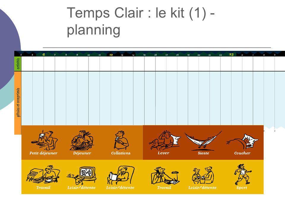 Temps Clair : le kit (1) - planning