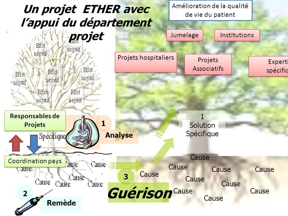 Guérison Un projet ETHER avec l'appui du département projet