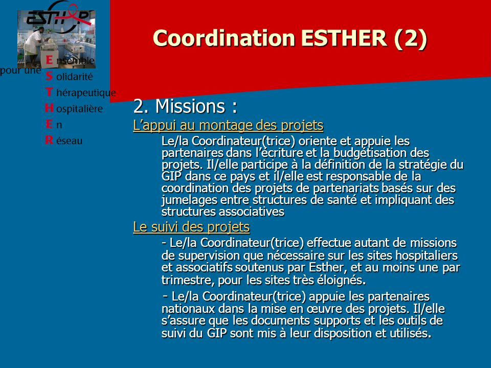 Coordination ESTHER (2)