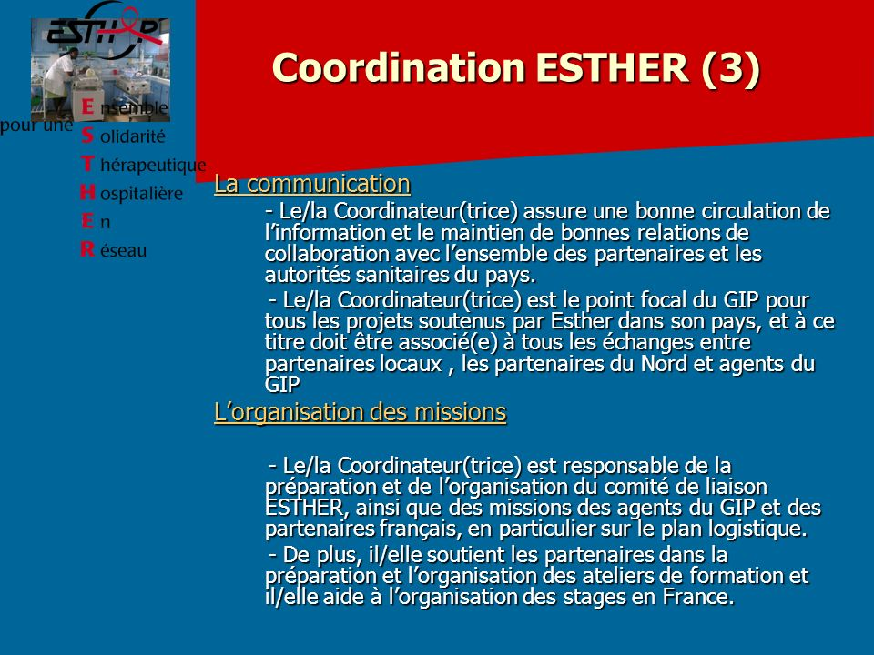 Coordination ESTHER (3)
