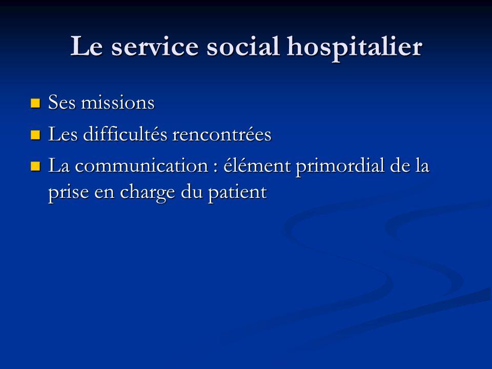 Le service social hospitalier