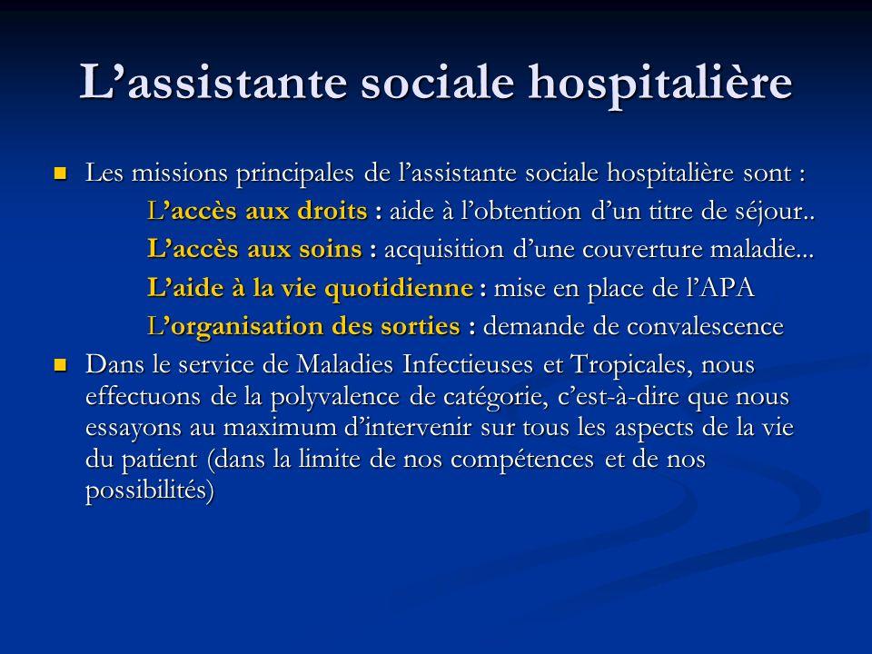 L'assistante sociale hospitalière
