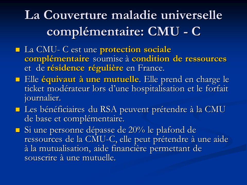 La Couverture maladie universelle complémentaire: CMU - C