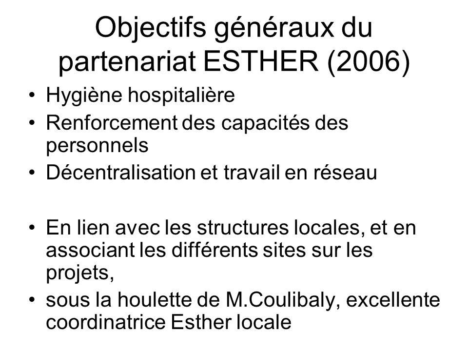 Objectifs généraux du partenariat ESTHER (2006)