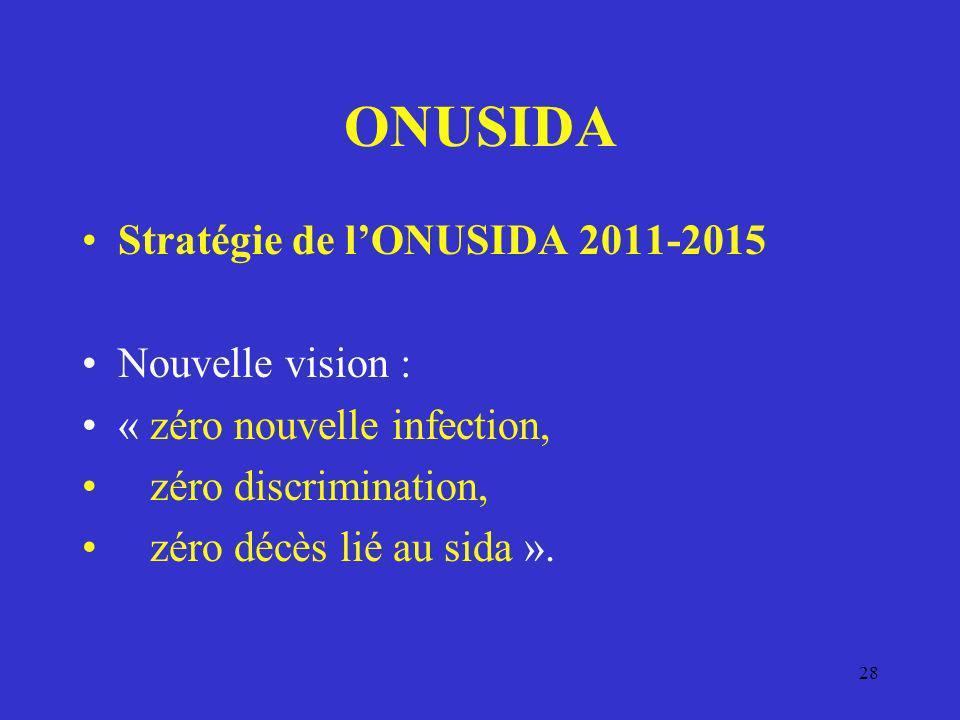 ONUSIDA Stratégie de l'ONUSIDA 2011-2015 Nouvelle vision :
