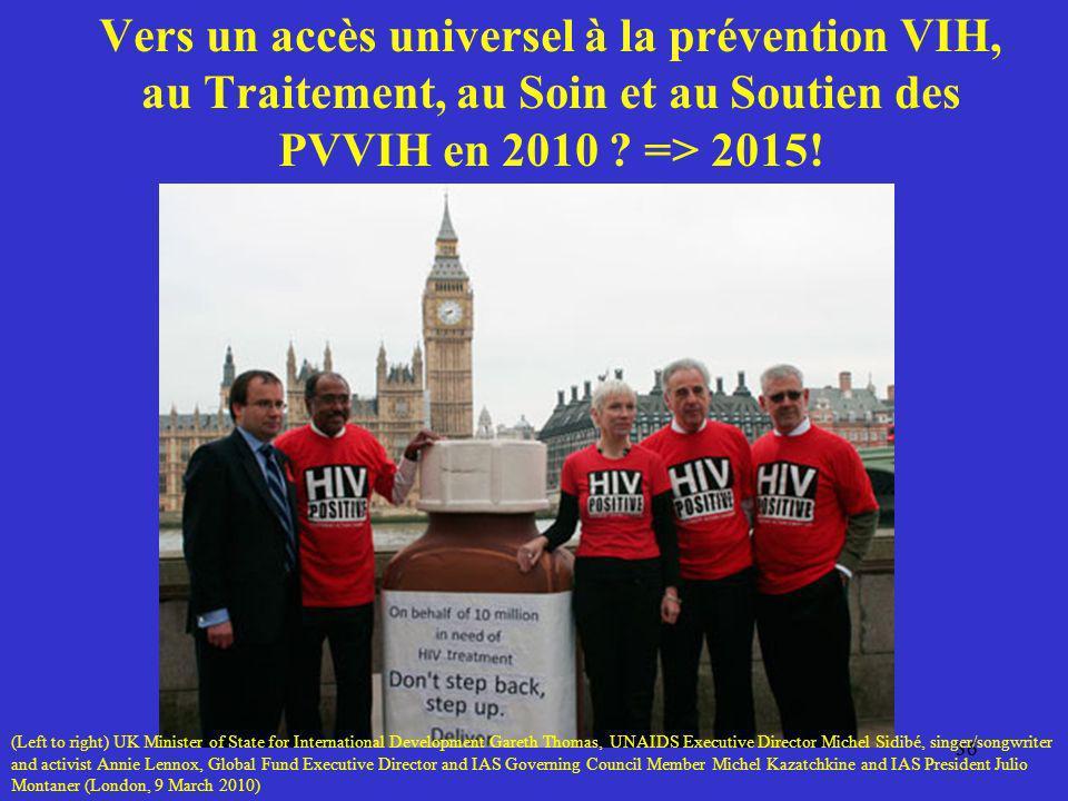 Vers un accès universel à la prévention VIH, au Traitement, au Soin et au Soutien des PVVIH en 2010 => 2015!