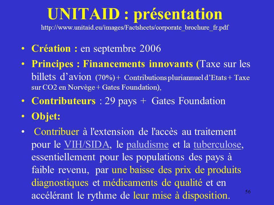 UNITAID : présentation http://www. unitaid