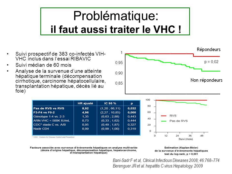 Problématique: il faut aussi traiter le VHC !
