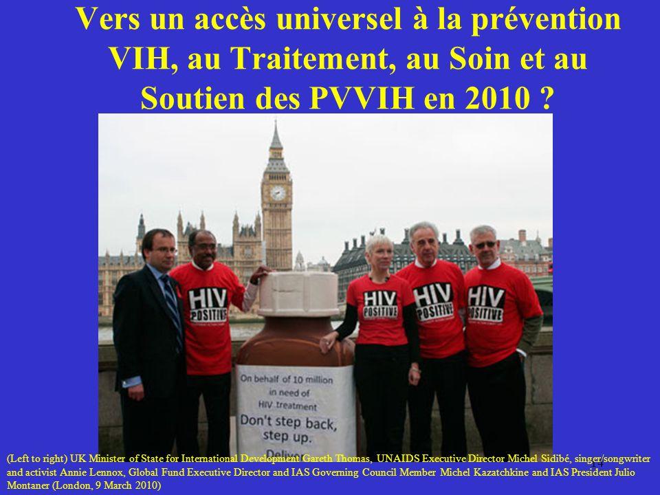 Vers un accès universel à la prévention VIH, au Traitement, au Soin et au Soutien des PVVIH en 2010