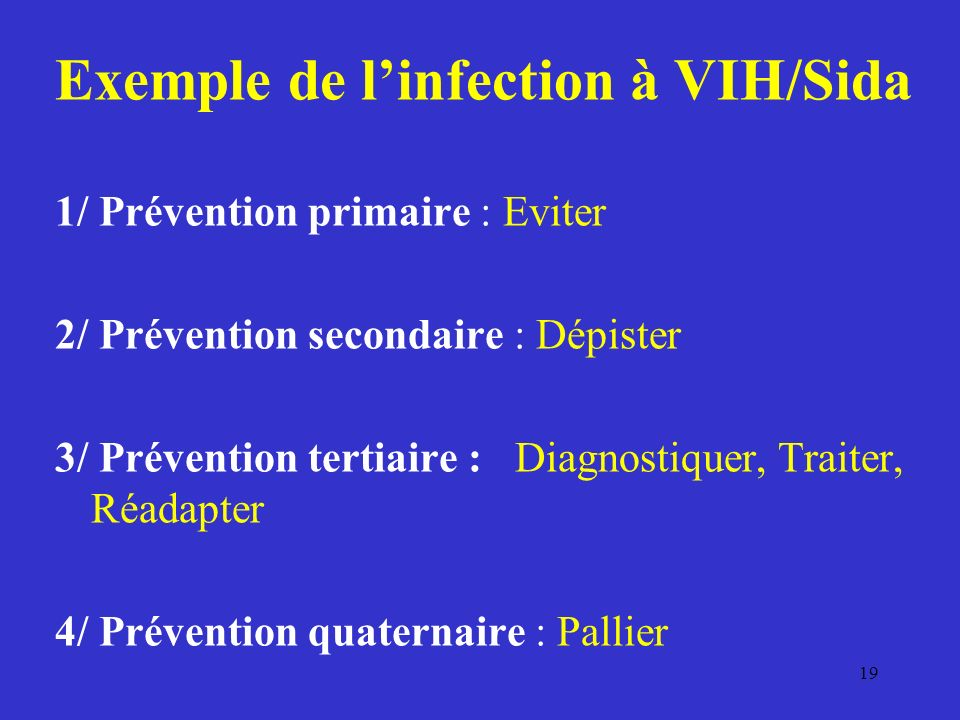 Exemple de l'infection à VIH/Sida
