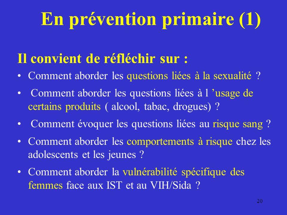 En prévention primaire (1)