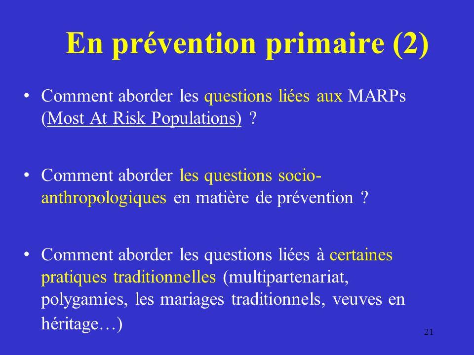 En prévention primaire (2)