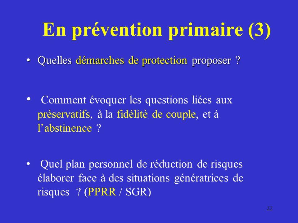En prévention primaire (3)