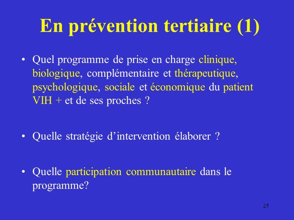 En prévention tertiaire (1)