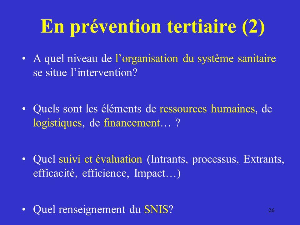En prévention tertiaire (2)