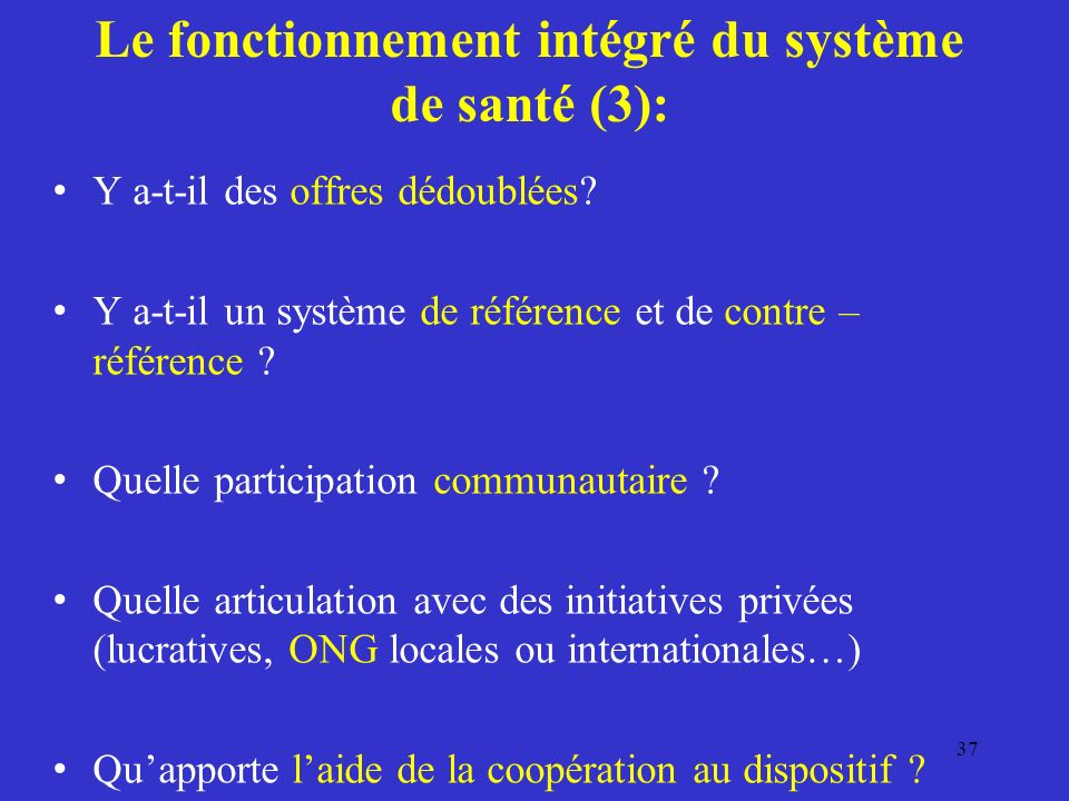 Le fonctionnement intégré du système de santé (3):