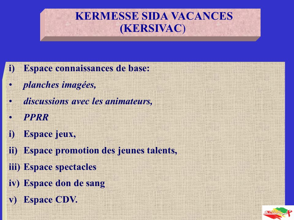 KERMESSE SIDA VACANCES (KERSIVAC)