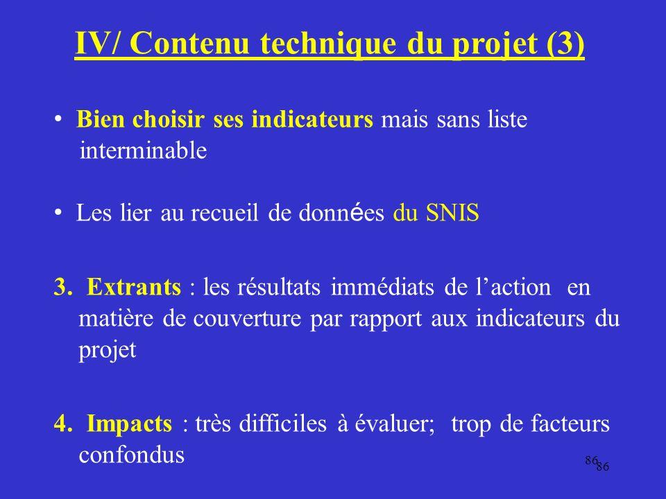 IV/ Contenu technique du projet (3)