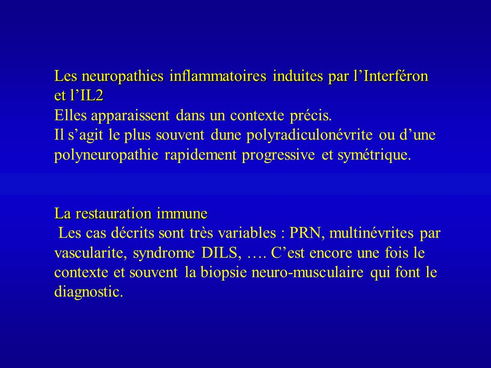 Les neuropathies inflammatoires induites par l'Interféron