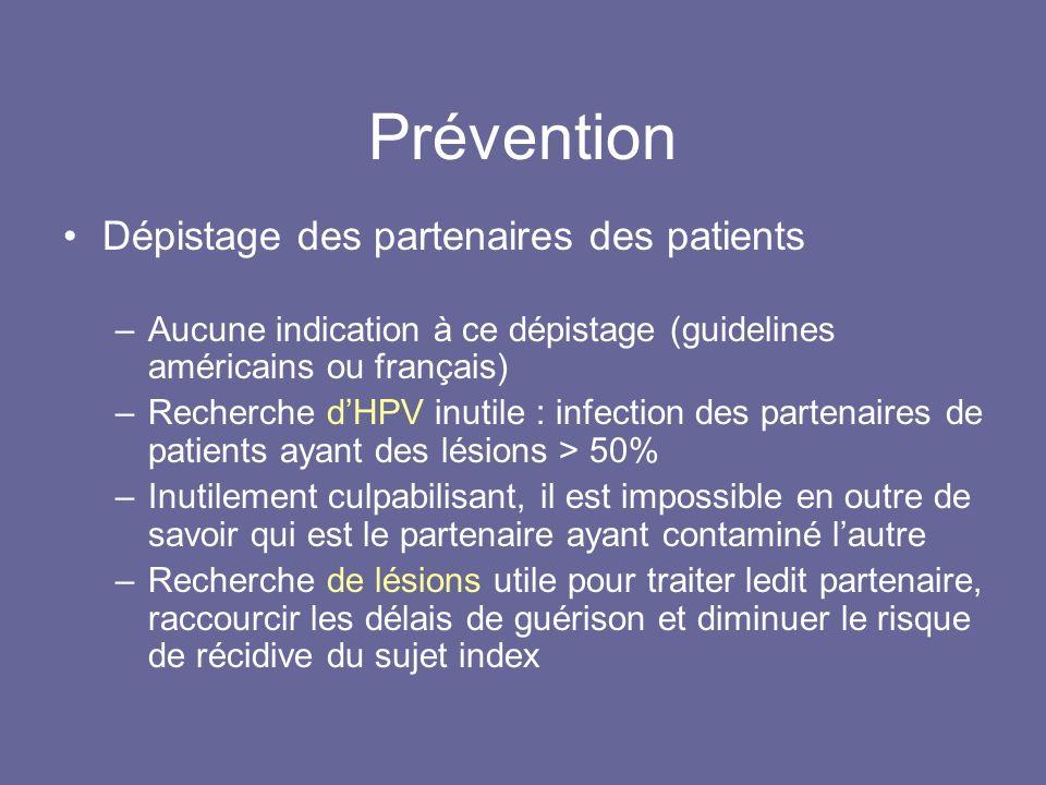 Prévention Dépistage des partenaires des patients