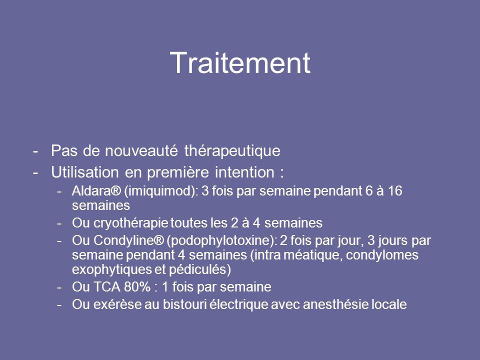 Traitement Pas de nouveauté thérapeutique
