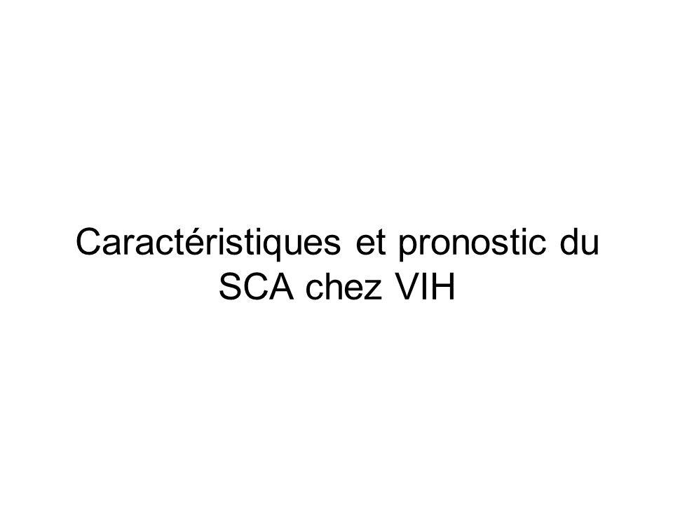 Caractéristiques et pronostic du SCA chez VIH