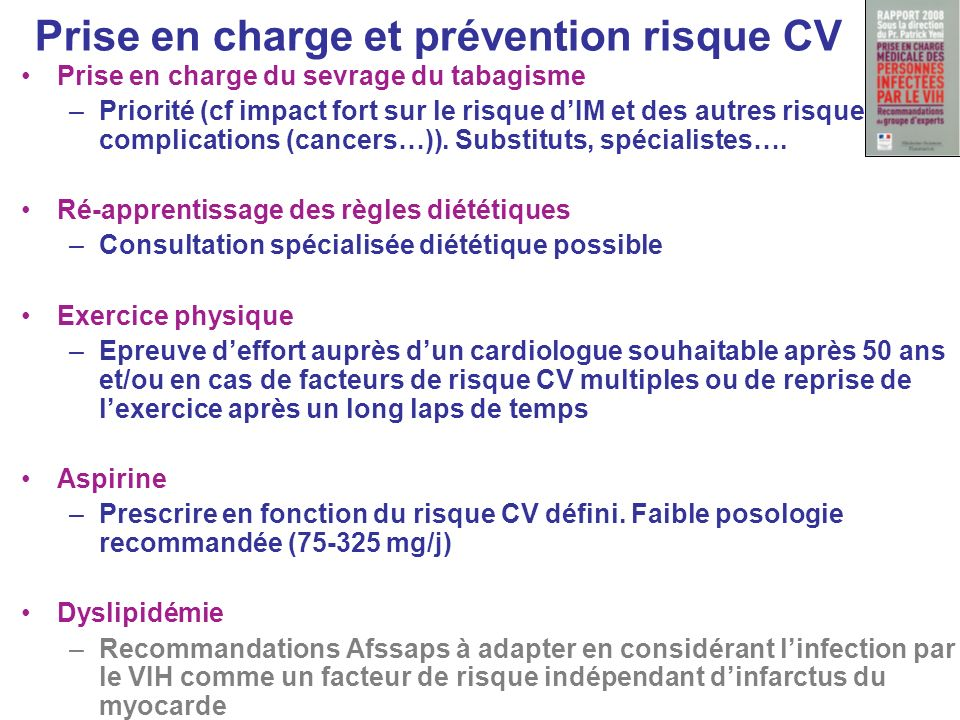 Prise en charge et prévention risque CV