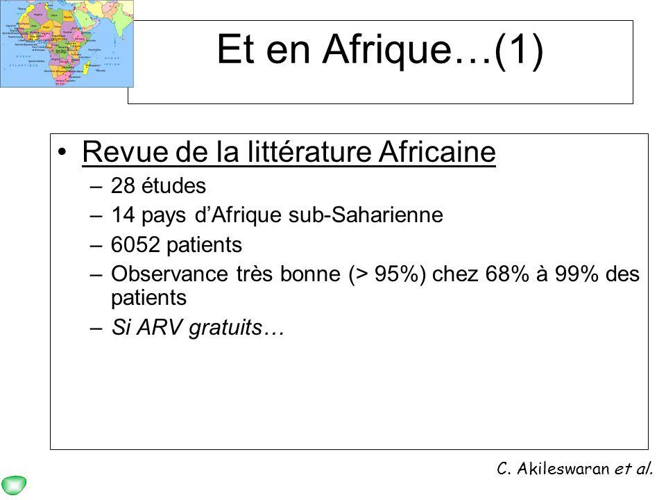 Et en Afrique…(1) Revue de la littérature Africaine 28 études