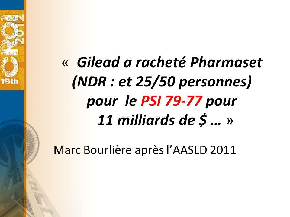 Marc Bourlière après l'AASLD 2011