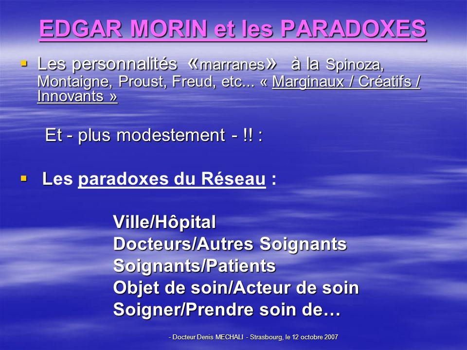 EDGAR MORIN et les PARADOXES