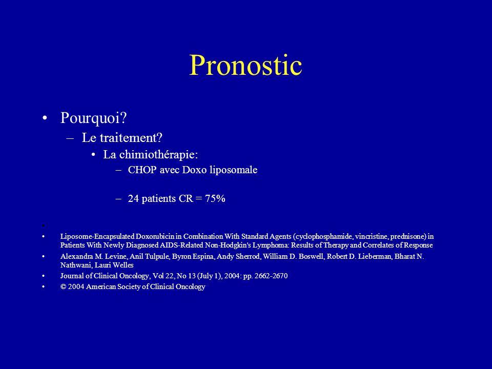 Pronostic Pourquoi Le traitement La chimiothérapie: