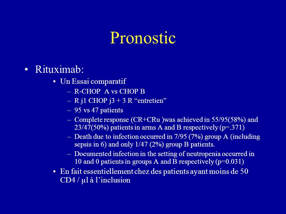 Pronostic Rituximab: Un Essai comparatif