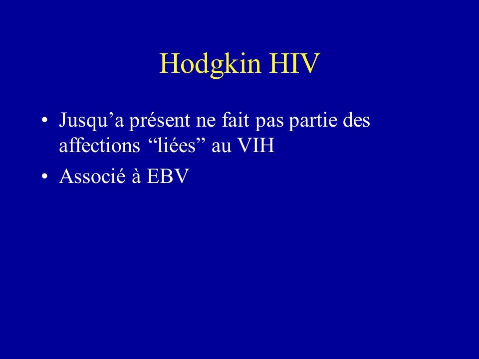 Hodgkin HIV Jusqu'a présent ne fait pas partie des affections liées au VIH Associé à EBV